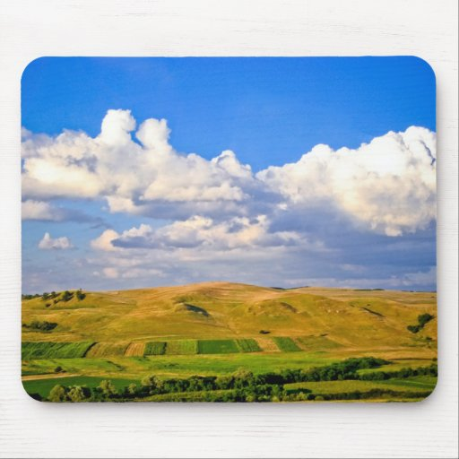 Over the hills mousepad