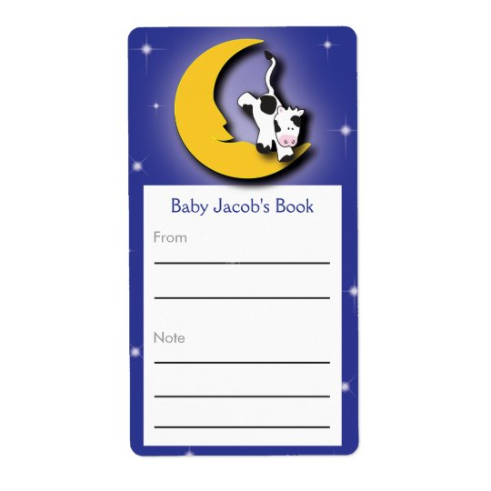 Over the Moon  |  Bookplate Shipping Label