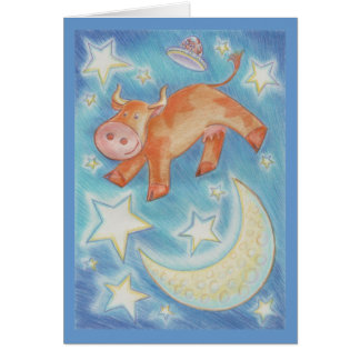 Over the Moon 'Congratulations' greetings card