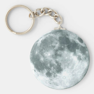 """""""OVER THE MOON"""" Zipper-Pull & Basic Round Button Key Ring"""