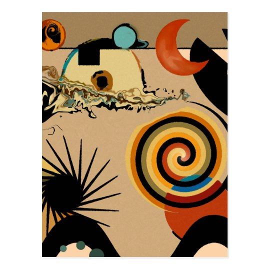 Over the Ocean - Abstract Postcard