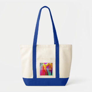 Over the Rainbow/Colorful Tulip Impulse Tote Bag