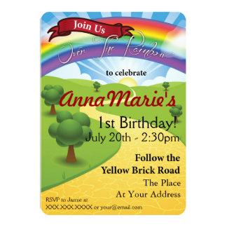Over The Rainbow Invitations