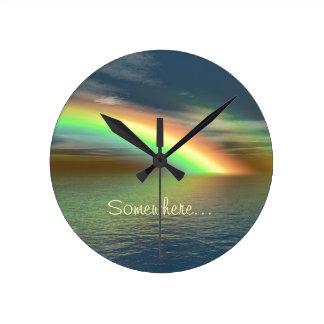 Over the Rainbow Round Clock
