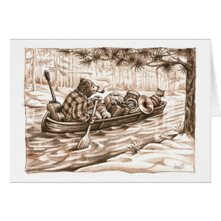 Over the River & Through the Woods by Gerry ONeill Greeting Card