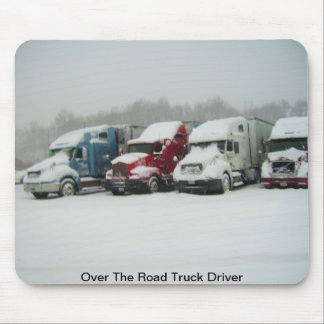 Over The Road Truck Driver Mouse Mat