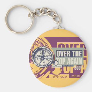 Over the Top Hiking Tshirts and Gifts Basic Round Button Key Ring