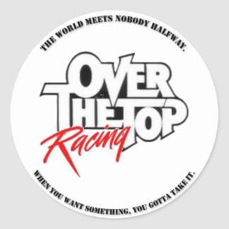 Over The Top Racing Zap Round Sticker