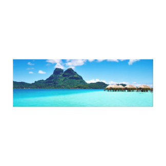 Over water bungalows in Bora Bora Canvas Print