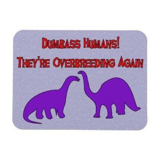 Overbreeding Dinosaurs Rectangular Magnet