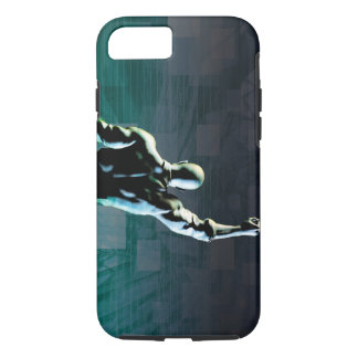 Overcoming Obstacles with Man Achieving Success iPhone 7 Case