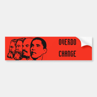 OVERDO CHANGE bumper sticker