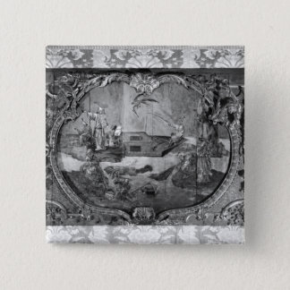 Overdoor panel with chinese subject, c.1730 15 cm square badge