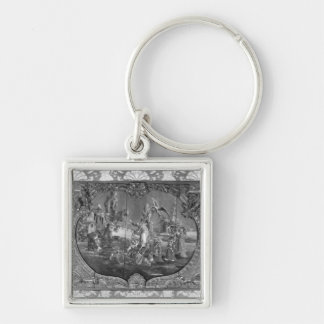 Overdoor panel with chinese subject, c.1730 key ring