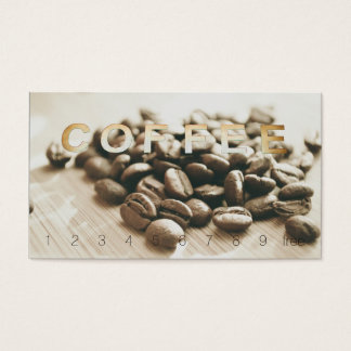Overhead Sign Loyalty Monochrome Coffee Beans
