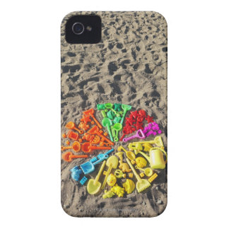 Overhead view of colourful children's plastic iPhone 4 Case-Mate case