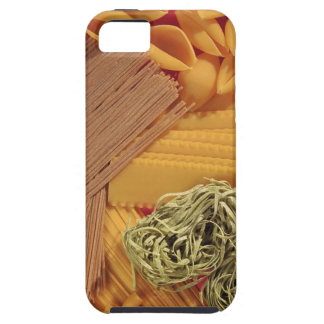 Overhead view of various pasta case for the iPhone 5