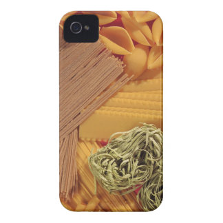 Overhead view of various pasta iPhone 4 covers