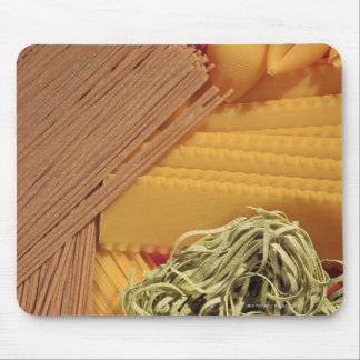 Overhead view of various pasta mouse mat