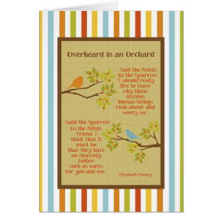"""Overheard in an Orchard"" (Robin and Sparrow) Card"
