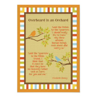 """Overheard in an Orchard"" (Robin and Sparrow) Poem Card"