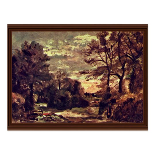 Overland By John Constable (Best Quality) Postcard
