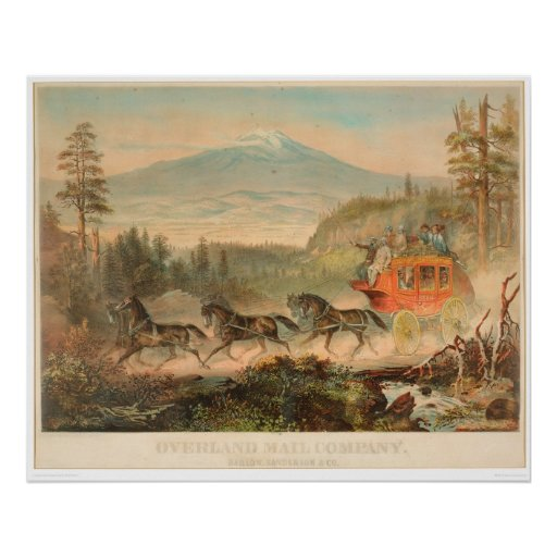 Overland Mail Company (1268A) Poster
