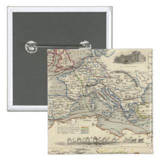 Overland Route To India 15 Cm Square Badge