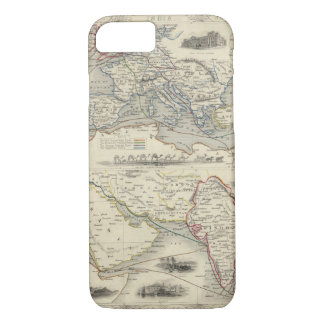 Overland Route To India iPhone 7 Case