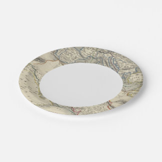 Overland Route To India Paper Plate