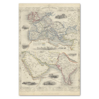 Overland Route To India Tissue Paper
