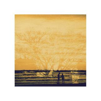 Overlap of love-tree & sea- wood wall decor