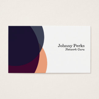 Overlapping Colors variation 2 Business Card