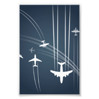 Overlapping Flight Paths Pattern Photographic Print