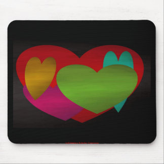 Overlapping Hearts Mouse Pads