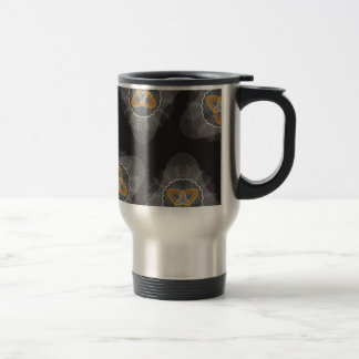 Overlapping Lines Pattern blck Mugs