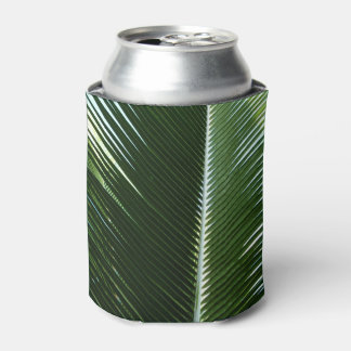 Overlapping Palm Fronds Tropical Green Abstract Can Cooler