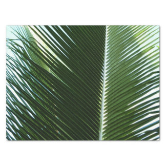 Overlapping Palm Fronds Tropical Green Abstract Tissue Paper