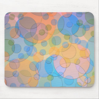Overlapping Pastel Circles Modern Design Mousepads