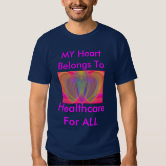 Overlapping Rainbow Hearts Tees