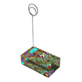 Overlay Abstract Exciting Design Table Number Holder