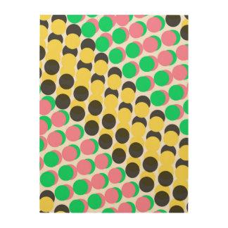 Overlayed Dots Wood Print