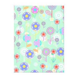 Overlayer Flowers Canvas Print