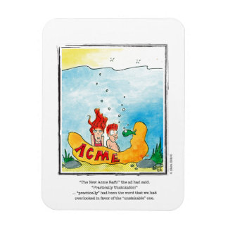 OVERLOOKED cartoon by Ellen Elliott Rectangular Photo Magnet