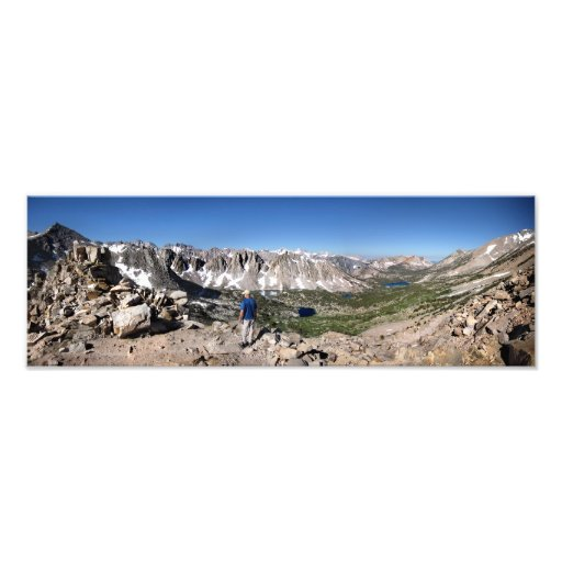 Overlooking John Muir Trail from Kearsarge Pass Art Photo