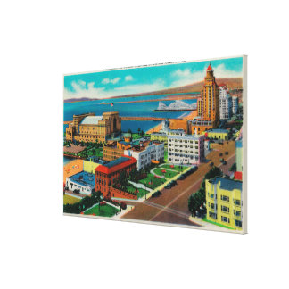 Overlooking Ocean Avenue showing Auditorium Stretched Canvas Prints