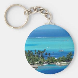 Overlooking Paradise Basic Round Button Key Ring