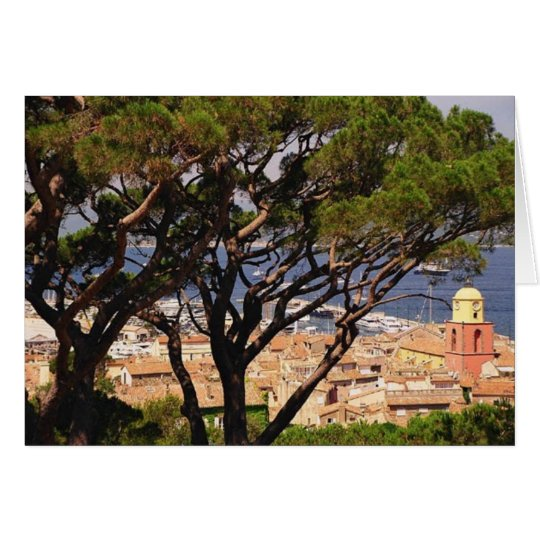 Overlooking St. Tropez Card