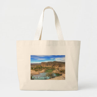 Overlooking the Rio Grande Large Tote Bag