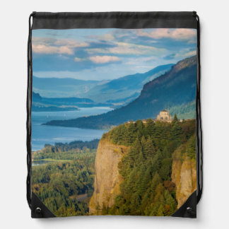 Overlooking The Vista House And The Columbia Drawstring Bag